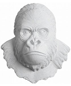 Gorilla Ape Head Wall Mount