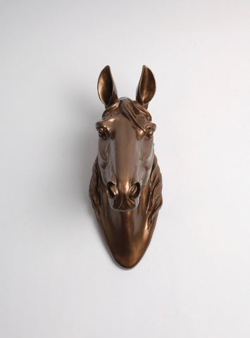 The Daiquiri  | Large Horse Head | Faux Taxidermy | Bronze Resin
