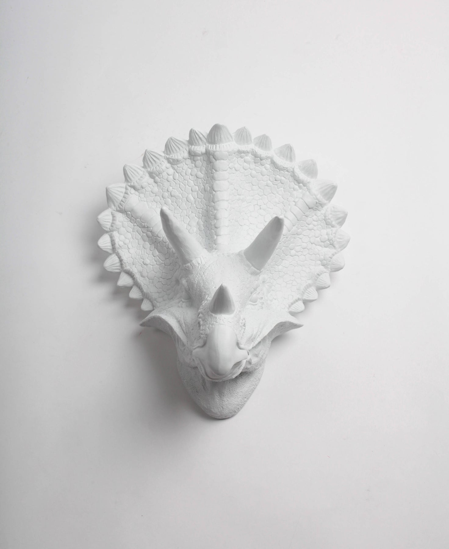TRICERATOPS Dinosaur Faux Taxidermy Liberty Pattern Fabric Wall Mounted Animal Head Tiberius Triceratops