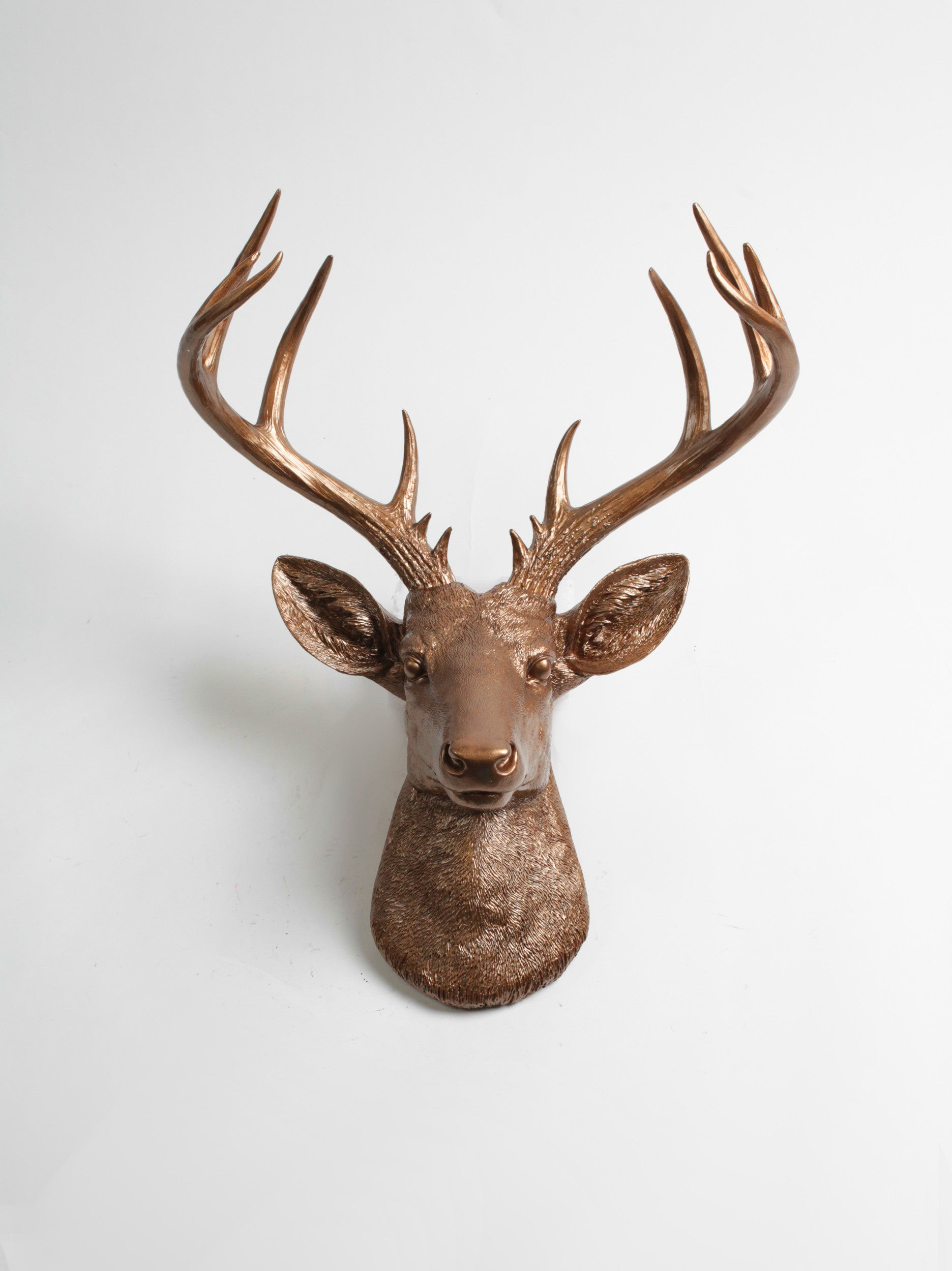 The XL Bennett | Bronze Stag Deer Head Wall Mount | Faux Taxidermy