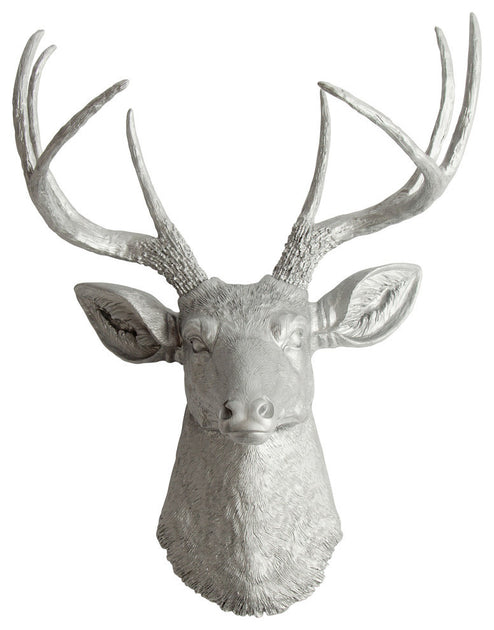 Metal Wall Art Deer Head The Hesher Faux Taxidermy Head