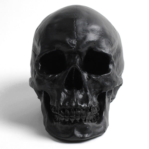 The Fitz in Black | Trendy Victorian Gothic Human Skull Art