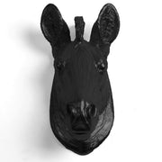 The Myra in Black - Mini Zebra Head | Modern African Safari Decor
