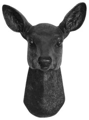 Resin faux doe deer head without antlers wall sculpture by White Faux Taxidermy