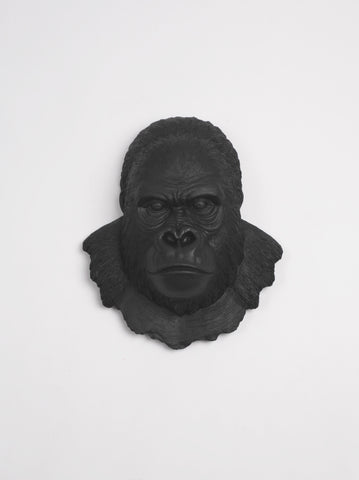 The Mambo in Black, Gorilla Head Wall Mount