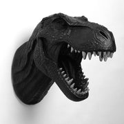 The Rufus in Black w/ Silver Teeth | Modern T-Rex Decor, Dinosaur Art