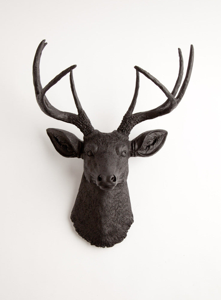 The Ignatius | Stag Deer Head | Faux Taxidermy | Black Resin