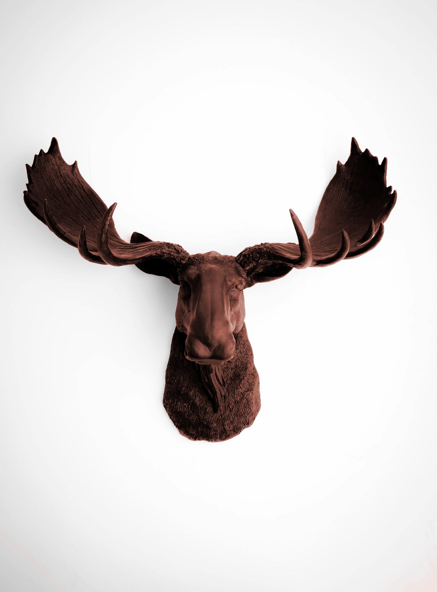 Brown Faux Taxidermy Moose Head Wall Mount The Augustus