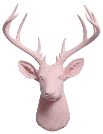 Cameo Pink Xl Deer head Sculpture Wall Decor