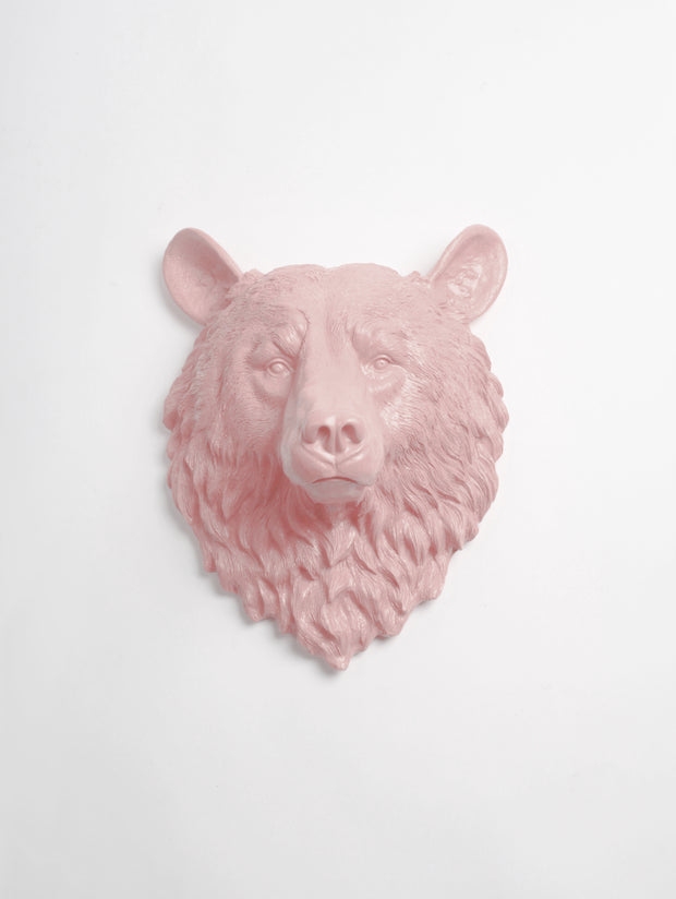 The Raleigh in Cameo Pink | Bear Head | Faux Taxidermy | Cameo Pink Resin