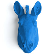 The Myra in Cobalt - Mini Zebra Head | Modern African Safari Decor