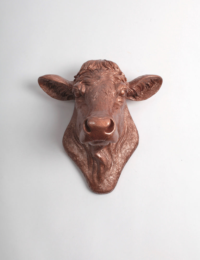 The Bessie in Copper, Cow Head Wall Decor