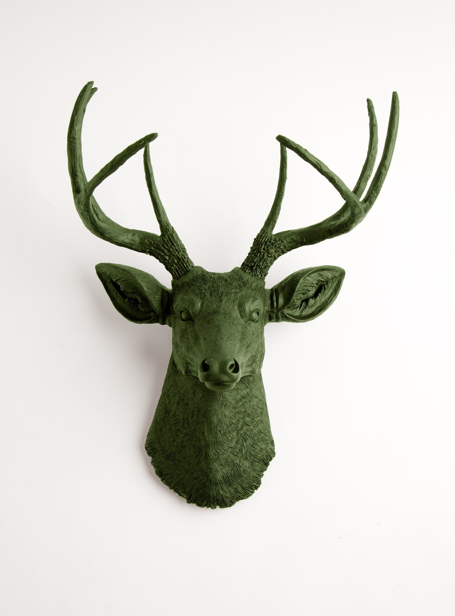 Forest Green Faux Deer Head The Basil Faux Taxidermy