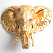 Large Gold Elephant Head Wall Mount, The Toker