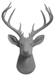The XL Geofrey, Gray Deer Head Wall Mount