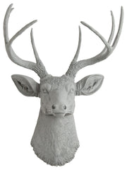 gray faux stag head wall mount
