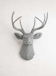 Gray Wall Decor Deer Head, The Geoffrey. gray faux stag head wall mount