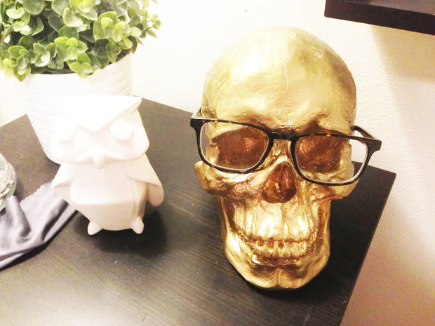 The Fitz in Black with Bronze Teeth | Trendy Victorian Gothic Human Skull Art