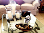 The Fitz in White with Bronze Teeth | Trendy Victorian Gothic Human Skull Art