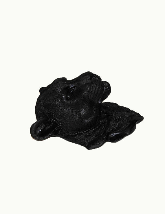The Hunter | Panther Head | Faux Taxidermy | Black Resin