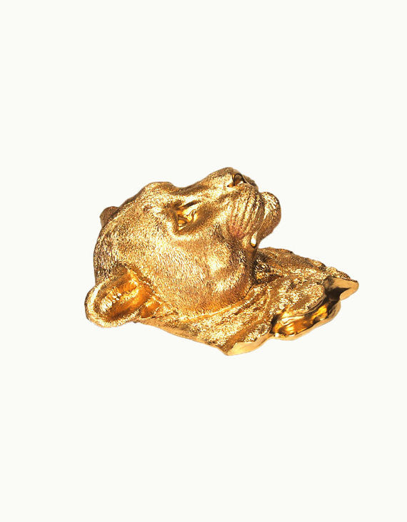 The Orion | Cougar Head | Faux Taxidermy | Gold Resin