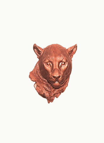 The Annika | Cougar Head | Faux Taxidermy | Copper Resin