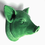 The Hamlet in Kelly Green | Modern Farmhouse Home Decor, Faux Pig Head Wall Mount