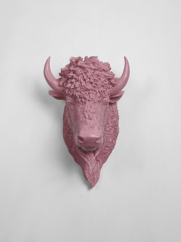 The Mellby in Lilac | Bison Head | Faux Taxidermy | Lilac Resin
