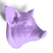 The Hamlet in Lavender | Modern Farmhouse Home Decor, Faux Pig Head Wall Mount