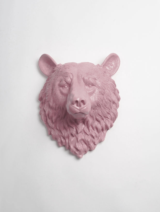 The Raleigh in Lilac | Bear Head | Faux Taxidermy | Lilac Resin