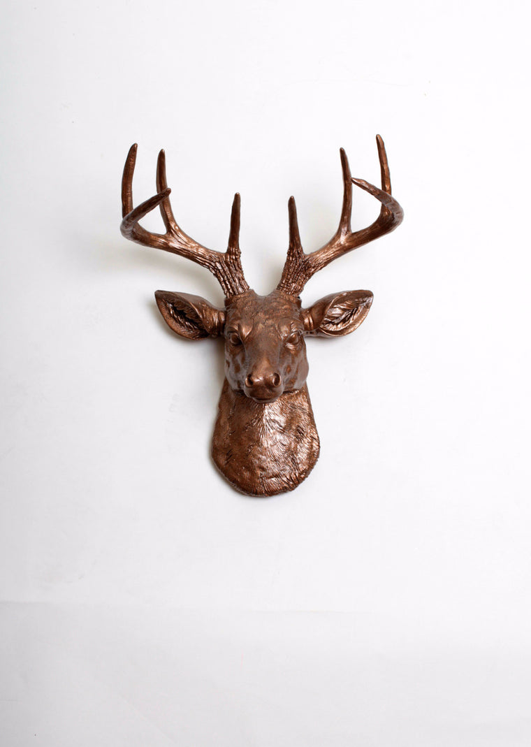The MINI Bennett | Stag Deer Head | Faux Taxidermy | Bronze Resin