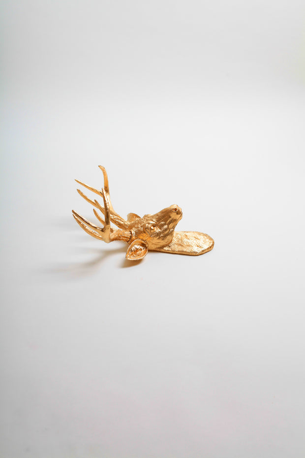 Mini Gold Stag Head Wall Mount