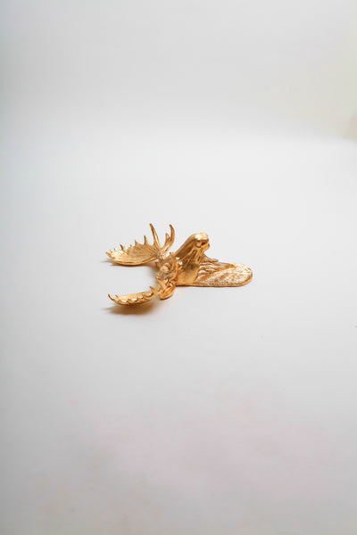 The MINI Elcide | Gold Moose Head | Faux Taxidermy | Gold Resin