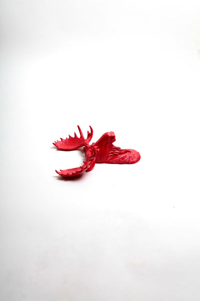 The MINI Rosie | Moose Head | Faux Taxidermy | Red Resin