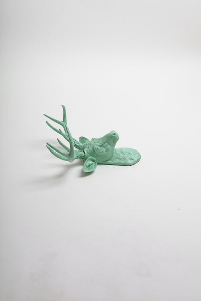 Mini Seafoam Stag Head Wall Mount