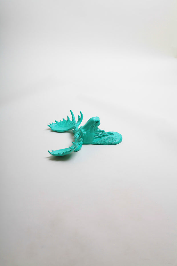 The MINI Tiffany | Moose Head | Faux Taxidermy | Turquoise Resin