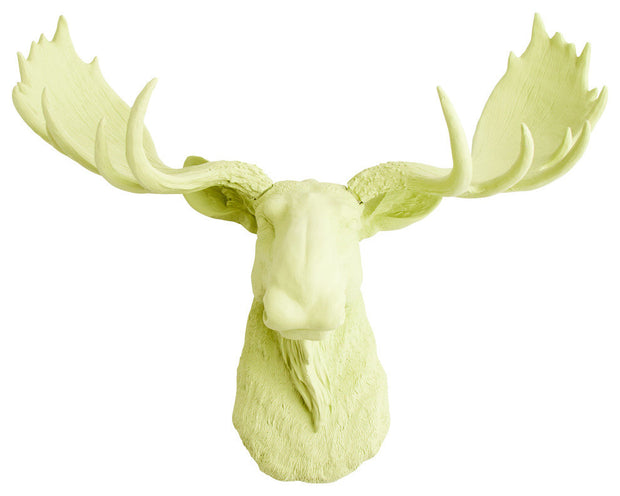 mint green resin faux moose head wall hanging by WhiteFauxTaxidermy