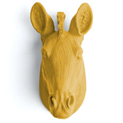 The Myra in Mustard - Mini Zebra Head | Modern African Safari Decor