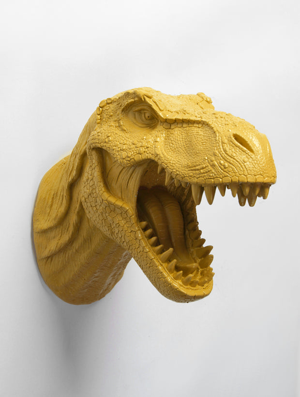 The Bronson in Mustard Dinosaur T Rex Head Wall Mount