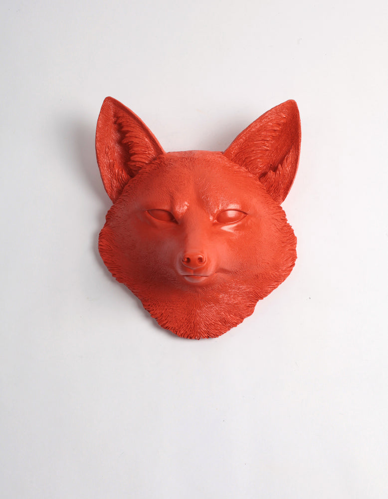 The Sylvester in Orange, Faux Taxidermy Fox Decor Head