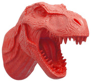 coral-orange t rex dinosaur head trophy wall mount