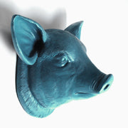 The Hamlet in Petrol | Modern Farmhouse Home Decor, Faux Pig Head Wall Mount