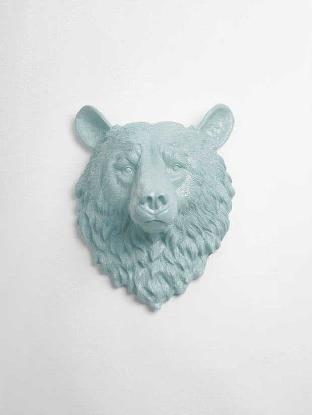 The Raleigh in Powder Blue | Bear Head | Faux Taxidermy | Powder Blue Resin
