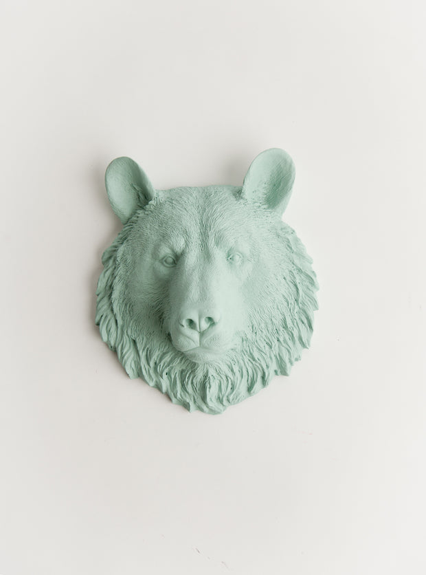 The Benzie | Mini Bear Head | Faux Taxidermy | Seaofam Resin
