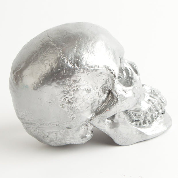 The Fitz in Silver | Trendy Victorian Gothic Human Skull Art