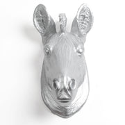 The Linus - Silver Mini Zebra Head | Modern African Safari Decor