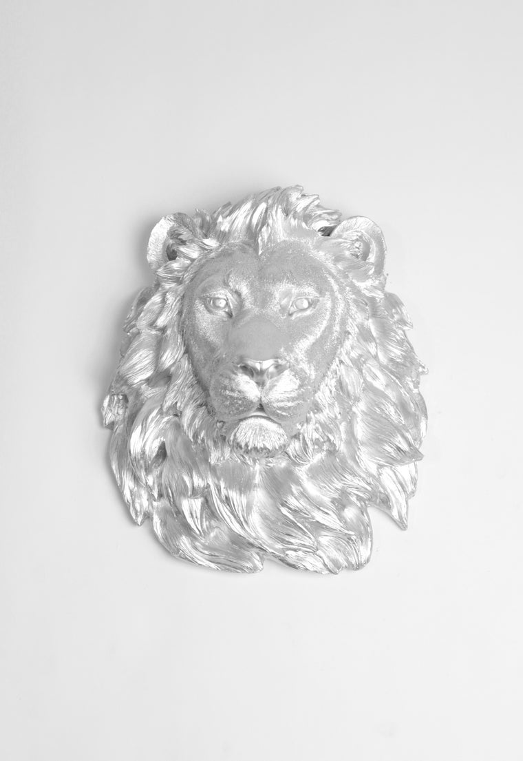 The Mufasa | Lion Head | Faux Taxidermy | Silver Resin