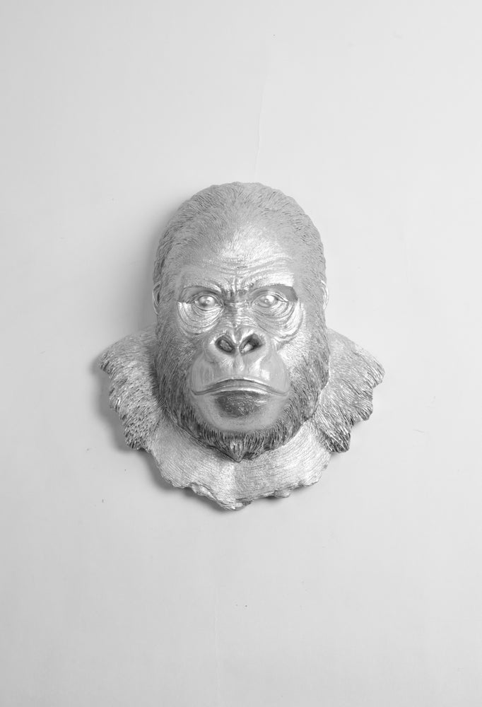 The Mambo in Silver, Gorilla Head Wall Mount