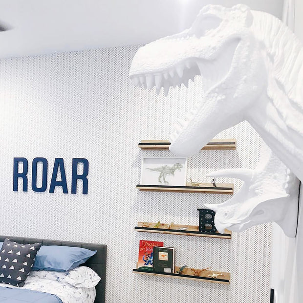 The Opal in Pearl White | Modern T-Rex Decor, Dinosaur Art