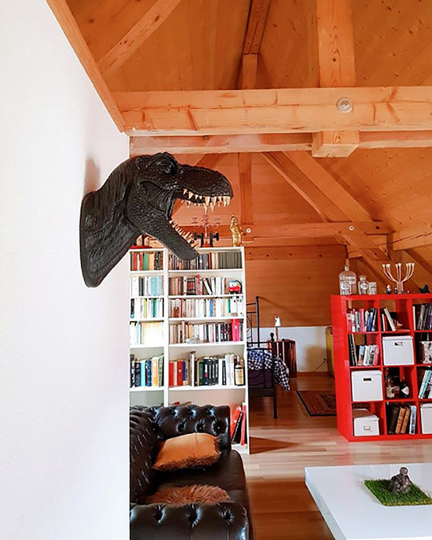 The Bronson in Gray | Modern T-Rex Decor, Dinosaur Art